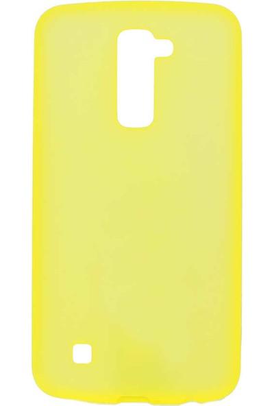 Nezih Case Lg K10 Uyumlu Soft Tasarım Yumuşak Silikon Kılıf Sarı
