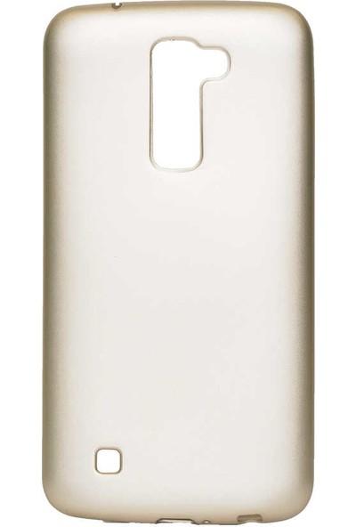 Nezih Case Lg K10 Uyumlu Soft Tasarım Yumuşak Silikon Kılıf Gold