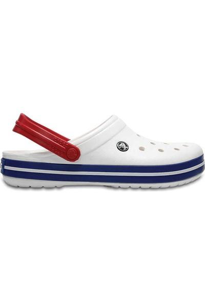 Crocs Crocband Beyaz-Mavi Unisex Terlik