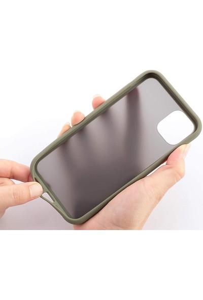 Case Markt Apple iPhone Xs Renkli Tuşlu & Arkası Mat Silikon Telefon Kılıfı Lacivert