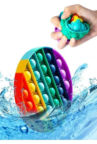 Hamaha Pop It Push Bubble Fidget Özel Pop Duyusal Oyuncak Zihinsel Stres Oyunu Popit Gökkuşağı