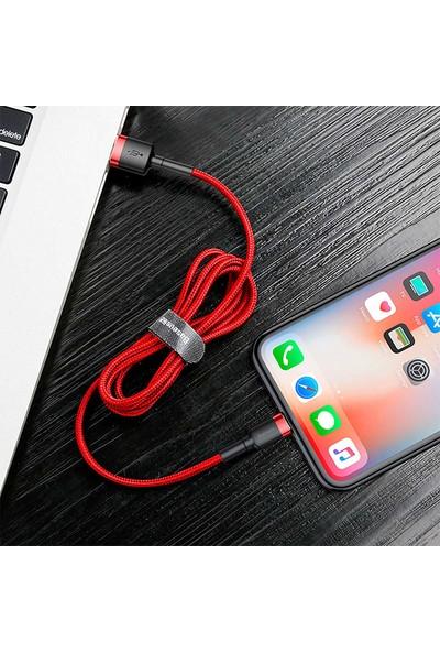 Baseus Cafule Series USB To Lightning 1.5A 2 mt Lightning Şarj Kablosu CALKLF-U09