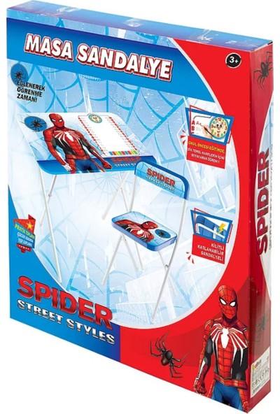 Rebber Katlanabilir Çocuk Ders Çalışma Masa Sandalye Seti Spiderman