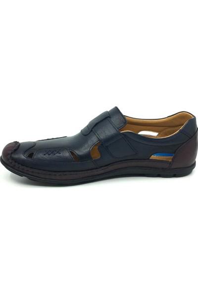 Luis Figo Hakiki Deri Erkek Günlük Yazlık Cırtlı Spor Sandalet 45-48
