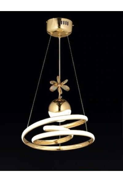 Burenze Gold Renk Modern Sarkıt Power LED Avize Concept Ürün Beyaz Işık
