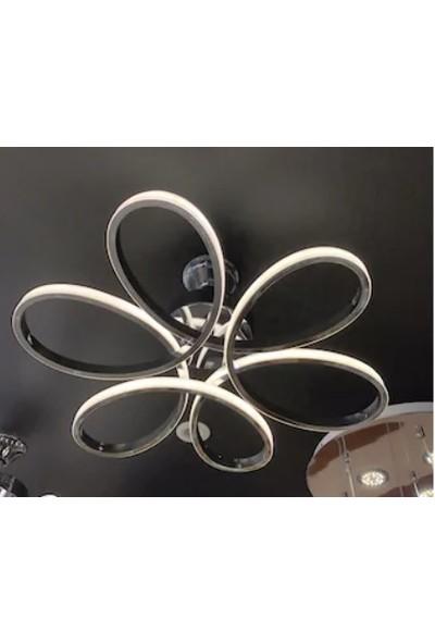 Burenze Plafonyer Power LED Avize Cold White 6500K Krom Gövde Yüksek Işık