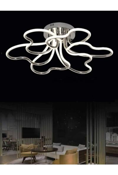 Burenze Luxury Modern Plafonyer LED Avize Krom Kademeli 3 Renk BURENZE690