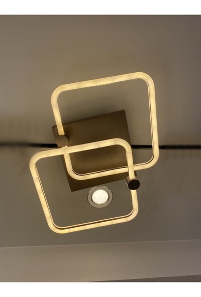 Burenze Modern Plafonyer LED Avize Kademeli 3 Renk Işık Koyu Kahve BURENZE918