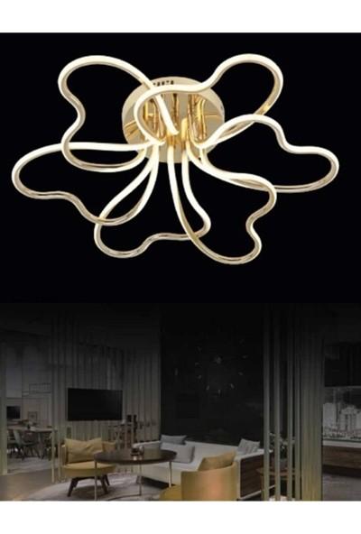 Burenze Luxury Modern Plafonyer LED Avize Gold Sarı Kademeli 3 Renk BURENZE868