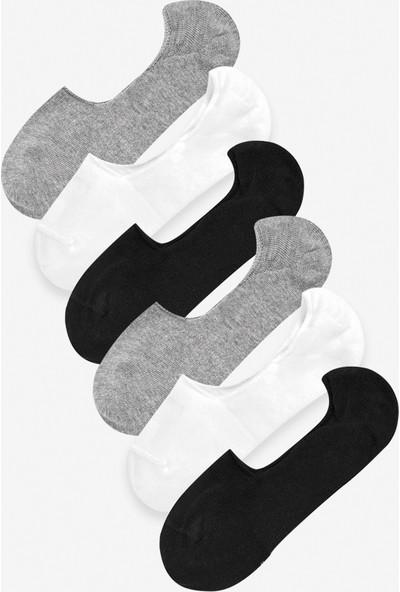 Mem Socks 6'lı Silikonlu Babet Çorap