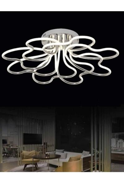 Burenze Luxury Modern Plafonyer LED Avize Krom Kademeli 3 Renk BURENZE869