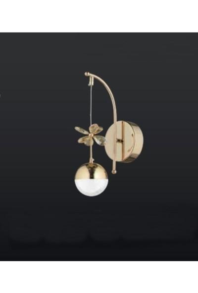 Burenze Tasarım Modern Duvar LED Aplik Gold Sarı BURENZE834