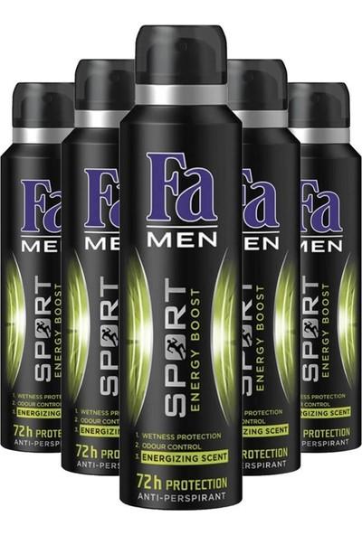Fa Men Sport Energy Boost Erkek Deodorant 150ML X5