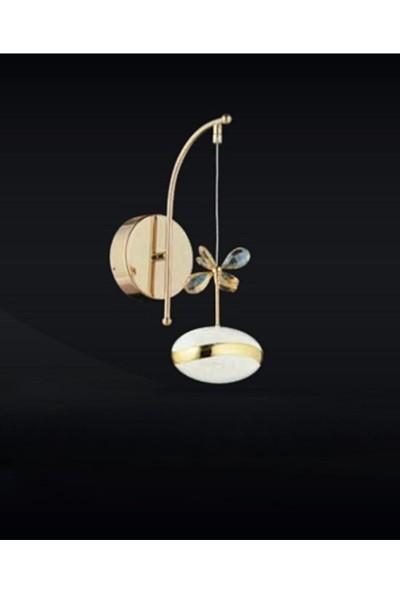 Burenze Elegance Luxury Tasarım Modern Duvar LED Aplik Gold Sarı BURENZE830