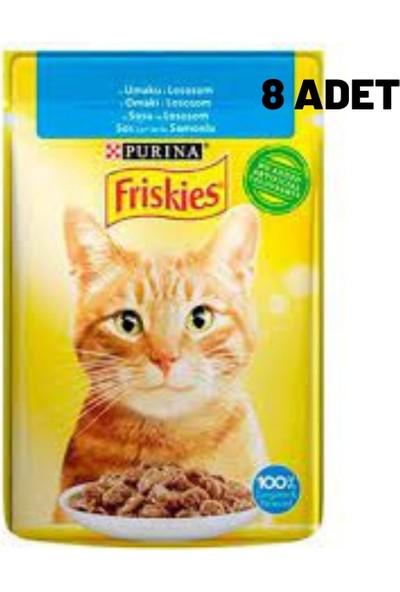 Friskies Somonlu Yaş Kedi Maması 85 gr x 8 Adet