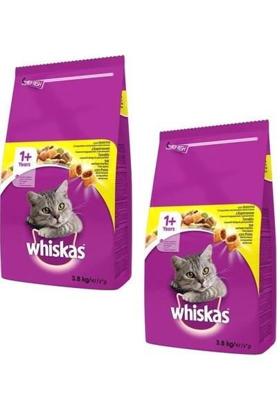 Whiskas Kuru Tavuklu Sebzeli Kedi Maması 3,8 kg (2 Adet)