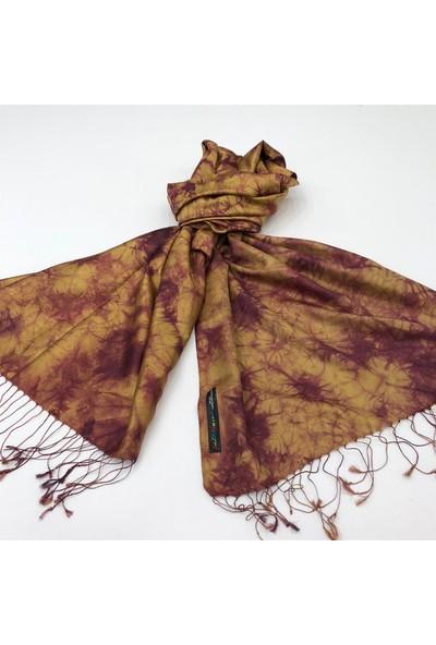 Silk Home Silk Home %100 Ipek Çift Taraflı Batik Desenli Şal 2