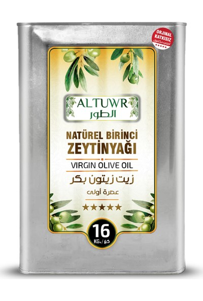 Altuwr Natürel Birinci Zeytinyağı 18 Lt (Teneke)