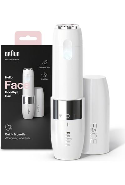 Braun Face FS1000 Mini Tüy Dökücü Kadın, Elektrikli Yüz Tüy Alma, Hızlı ve Kolay, Bıyık, Çene