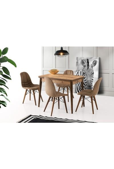 Evaç - Gonca Oval Masa Takımı Dışbudak Defne Sandalye