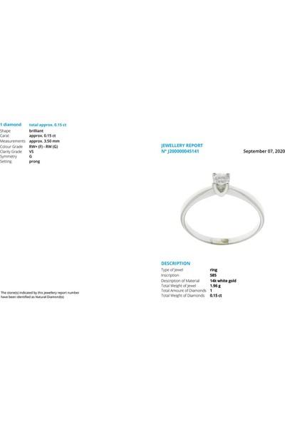 İber Diamond Iber Vs 0.15 Karat Pırlanta Taşlı Tektaş Yüzük PYZ0911HRD