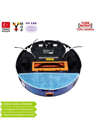 Luna-200UV Ultraviyole Ledli Türkçe Konuşan Lazer Navigasyonlu Robot Süpürge