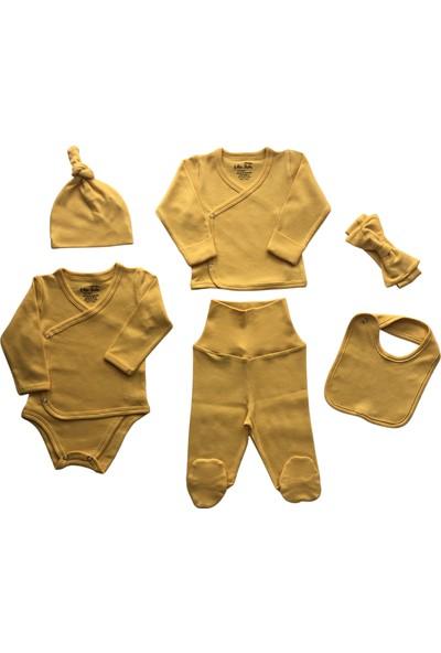 Erthe Bebe Minimalist %100 Organik Pamuk Antialerjik 6 Parça Kız Bebek Hastane Çıkışı Zıbın Set
