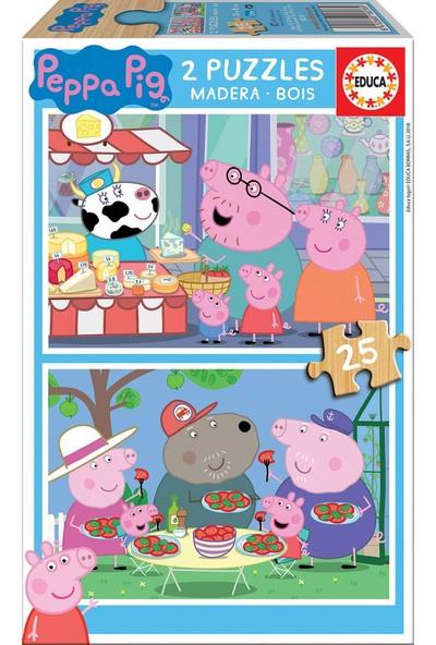 Educa 2X25 Peppa Pig Çocuk Puzzle