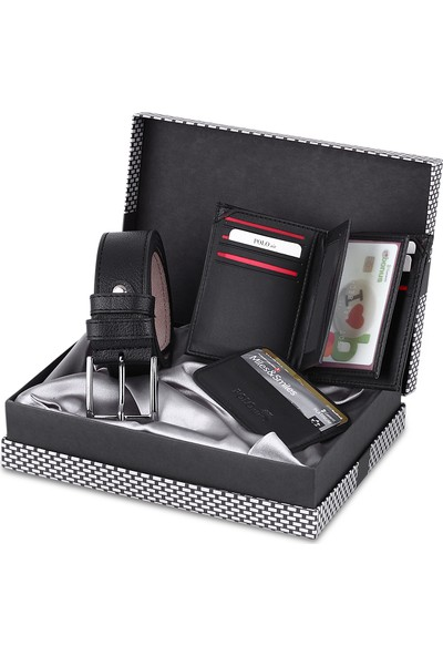 Polo Air Erkek Kol Saati Kemer Cüzdan Kartlık Set Kombin PL-0472E1