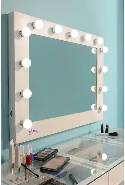 Platto Creative Works Milona Xl Makyaj Takımı 140CM Masa, 110 cm Hollywood Ayna
