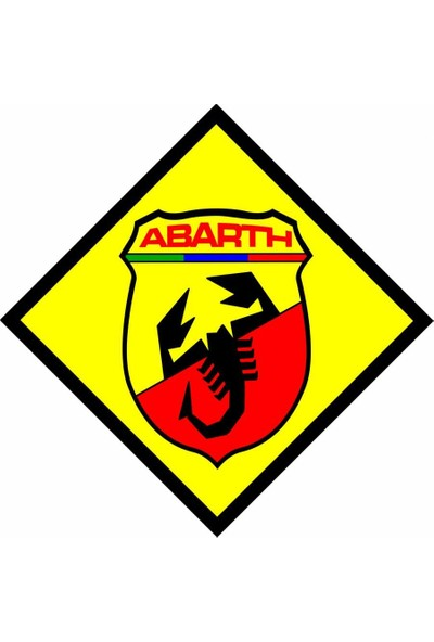 SüslenOto Sarı Çıkartma Abarth 800771102