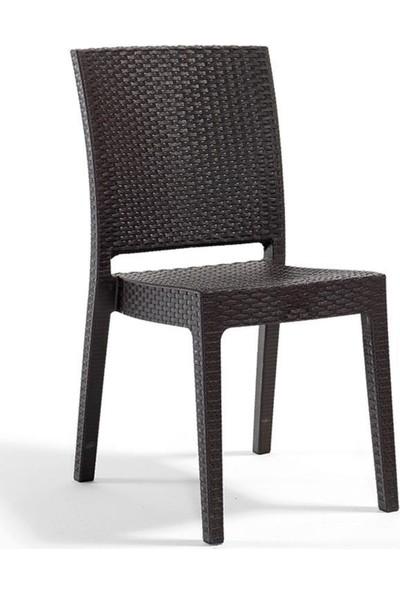Rattan Capissi Zeugma Rattan Kolsuz Sandalye Kahve