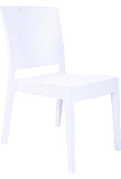 Rattan Capissi Zeugma Rattan Kolsuz Sandalye Beyaz