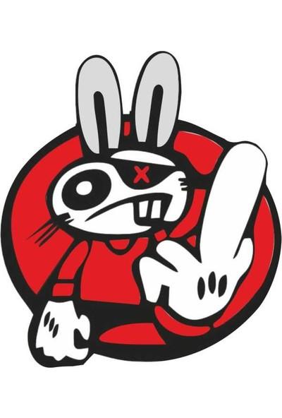 SüslenOto Çıkartma Yeni Nesil Tavşan 9 cm x 8 cm Adet 800501125