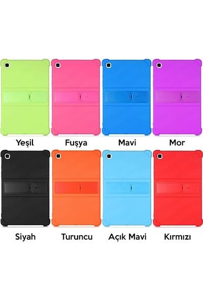 Dybox Samsung Galaxy Tab A7 10.4 SM-T500-T505-T507 Darbe Emici Standlı Silikon Kılıf Siyah
