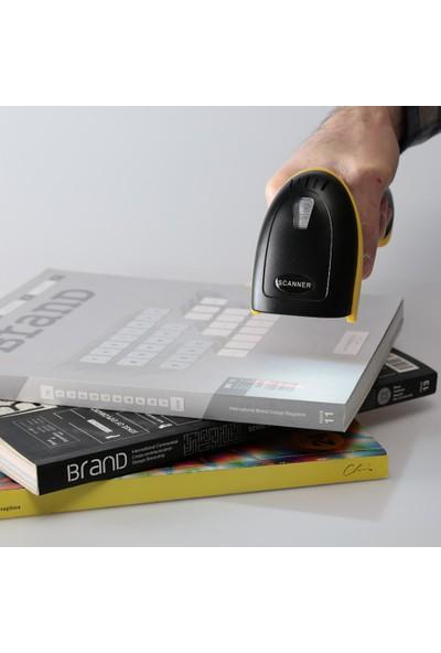 Wozlo Kablosuz Barkod Okuyucu El Tipi Laser Barkot Okuyucu Hafızalı