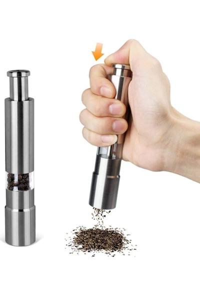 Karabiber-tuz Baharat Öğütücü Otomatik Basmalı Çelik Değirmen ( 1 Adet )