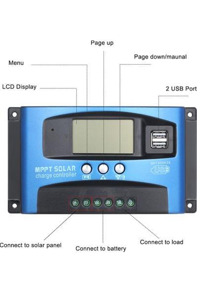 30A Mppt Solar Kontrol Cihazı 12V-24V Solar Akü Şarj Kontrol Cihazı Regülatörü Garantili