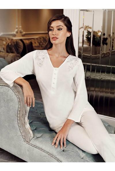 Perin 315 3'lü Sade Çeyizlik Penye Pijama Takımı