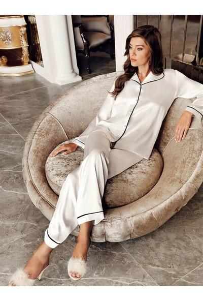 Perin 1030 Bayan Biyeli Saten 2'li Çeyizlik Pijama Takımı