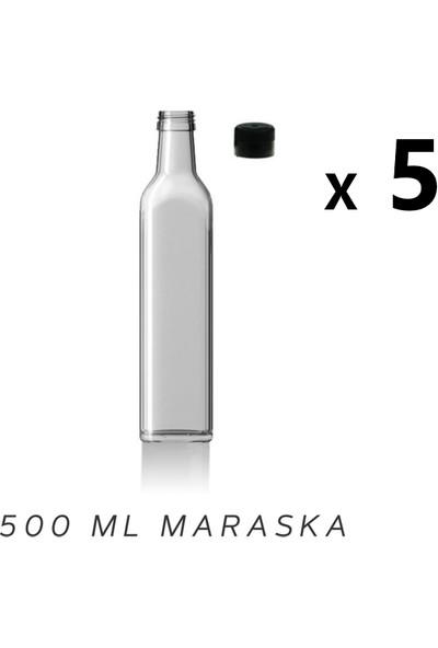 Şişecam Marasca Şeffaf 500 ml Zeytinyağı Şişesi 5 Adet