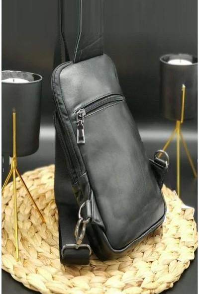 K&m King Men 2021 Trend Erkek Deri (Genuine Leather) Omuz Çantası