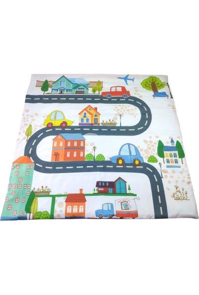 Aybaby Araba Desenli Oyun Matı 105 x 105 cm