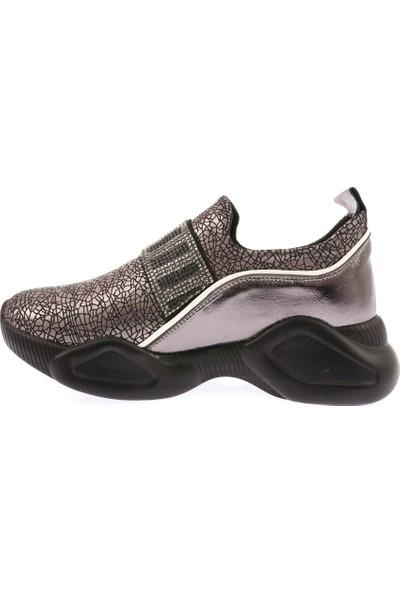 Dgn 01 Kadın Strech Üst Taş Detaylı Sneakers Spor Ayakkabı