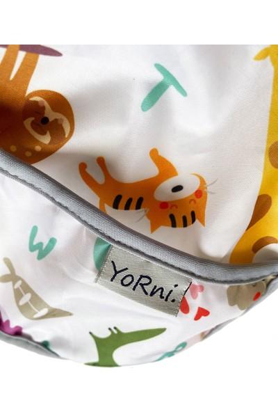 Yorni Yorni, Sızdırmaz, Cepli ve Boyundan Cırtlı Bebek Mama Önlüğü