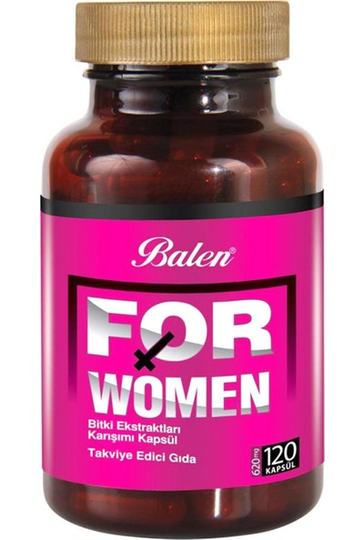 Balen For Women Bitki Karışımı 620 Mg 120 Kapsül 3 Adet