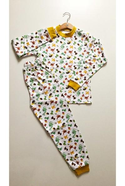 Seçkin Baby Erkek Çocuk Dinozor Desenli Mevsimlik Pijama Takımı