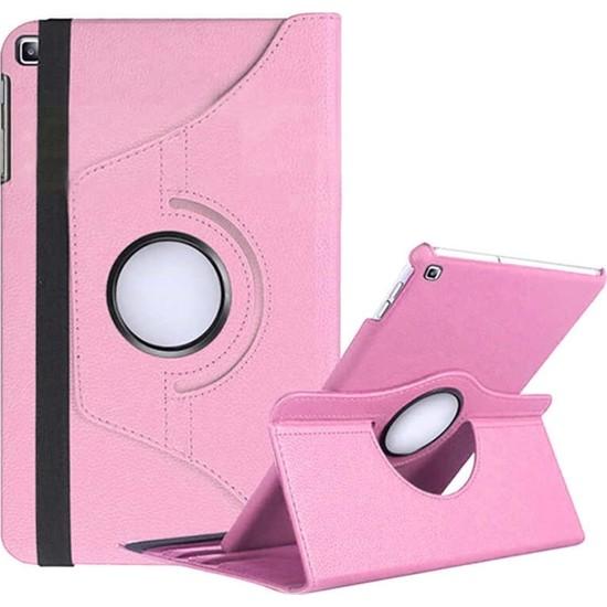 Caseart Samsung Galaxy Tab A T290 Dönebilen Stantlı Tablet Kılıfı - Açık Pembe