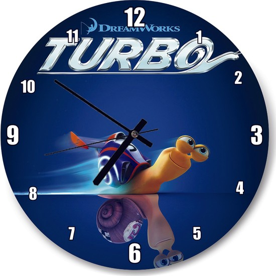 Cakatablo Turbo Film Posteri Duvar Saati