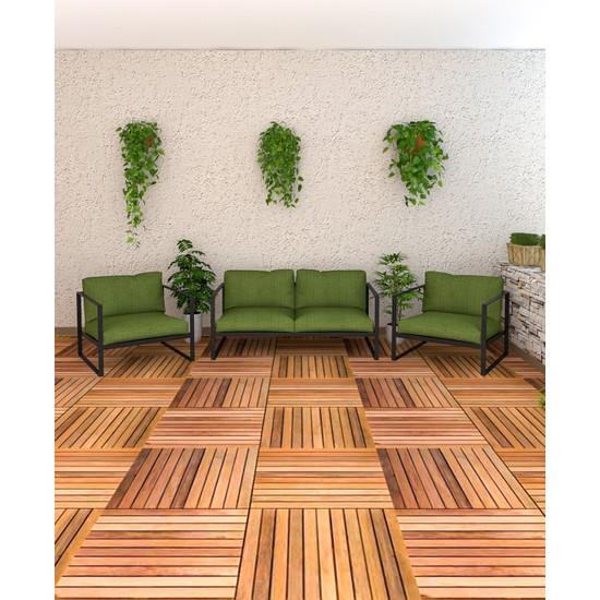 Wood House Ayçin Bahçe Mobilyası-Yeşil